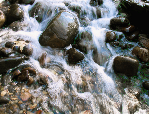 water flow rocks