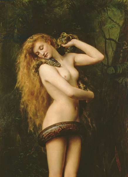 Lilith, 1887 (oil on canvas) (detail of 125798)