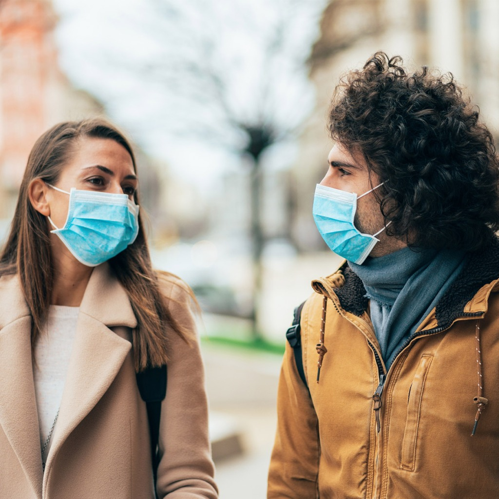 Masked dating during a pandemic.